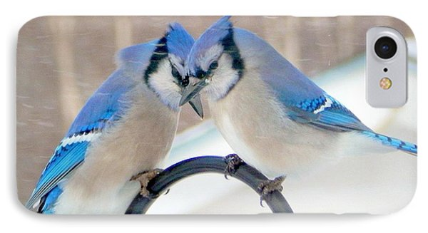 Bluejay iPhone 7 Case - Heart To Heart by Karen Cook