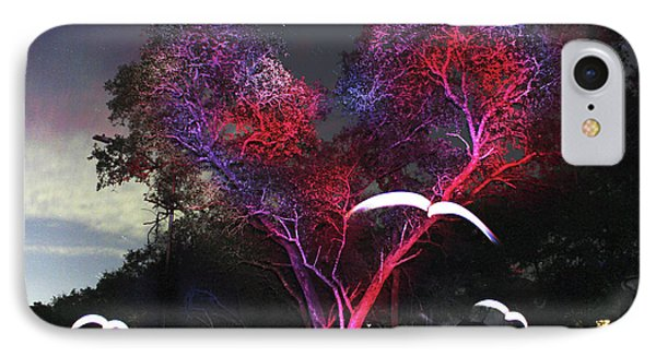 Heart Tree And Birds IPhone Case by Andrew Nourse