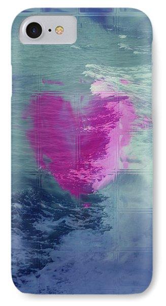 Heart Waves Phone Case by Linda Sannuti