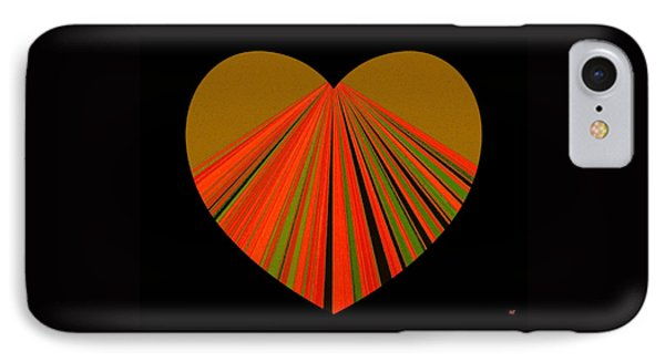 Heartline 5 IPhone Case by Will Borden