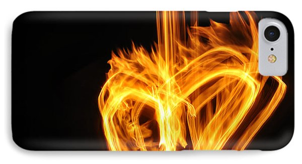 Hearts Aflame -falling In Love IPhone Case