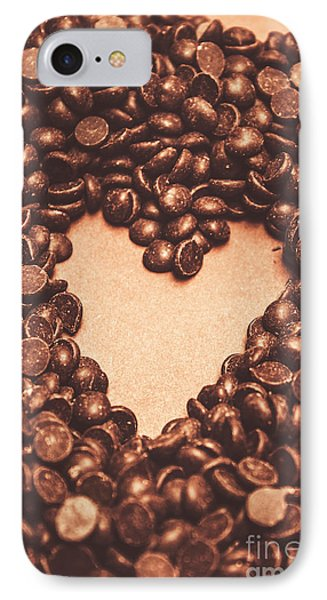 Hearts And Chocolate Drops. Valentines Background IPhone Case by Jorgo Photography - Wall Art Gallery