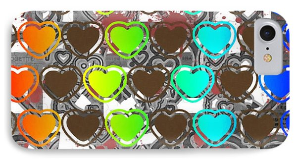 Hearts Colorfull Mix IPhone Case