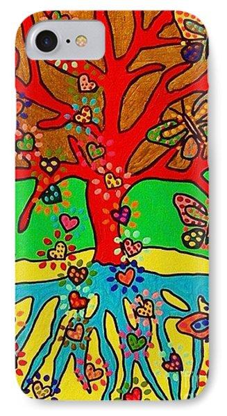 Hearts Grow Into Butterflies Phone Case by Sandra Silberzweig