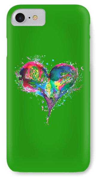 Hearts 6 T-shirt IPhone Case by Herb Strobino