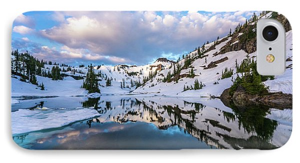 Heather Meadows Blue Ice Reflection Cloudscape IPhone Case