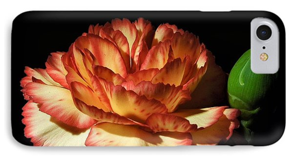 Heavenly Outlined Carnation Flower IPhone Case