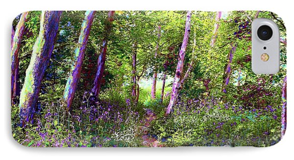 Heavenly Walk Among Birch And Aspen IPhone Case by Jane Small
