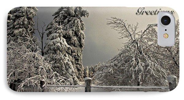 Heavy Laden Christmas Card Phone Case by Lois Bryan
