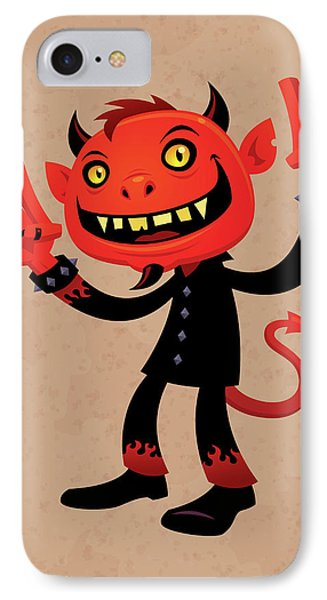 Music iPhone 7 Case - Heavy Metal Devil by John Schwegel