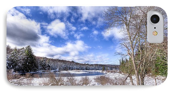 IPhone 7 Case featuring the photograph Heavy Snow At The Green Bridge by David Patterson