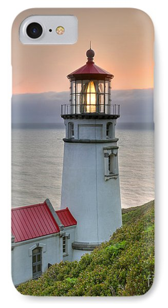 Heceta Lighthouse At Sunset IPhone Case by Martin Konopacki