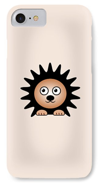 Hedgehog - Animals - Art For Kids IPhone Case by Anastasiya Malakhova