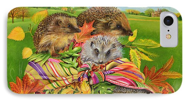 Hedgehogs Inside Scarf Phone Case by EB Watts