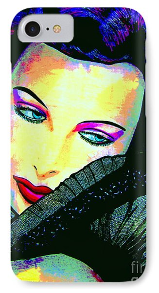 Hedy Lamarr IPhone Case by Colleen Kammerer
