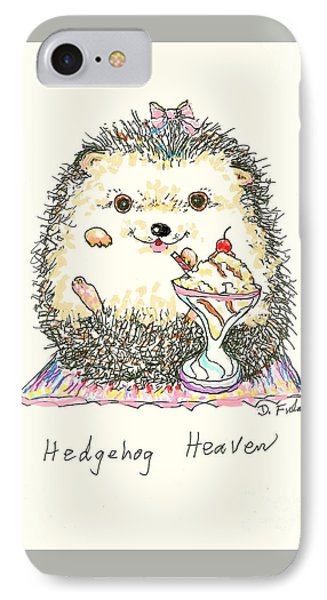 Hedgehog Heaven IPhone Case by Denise Fulmer