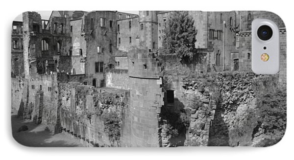 IPhone Case featuring the photograph Heidelberg Castle Behind The Scenes by Corinne Rhode