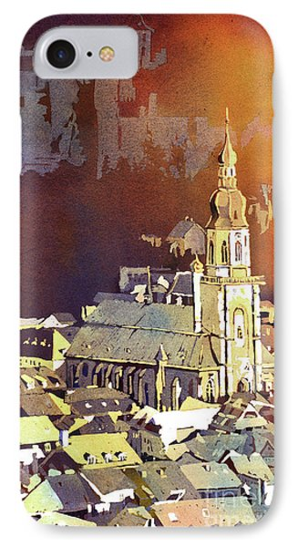 IPhone Case featuring the painting Heidelberg Sunset- Germany by Ryan Fox