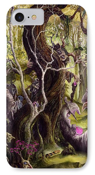 IPhone Case featuring the painting Heist Of The Wizard's Staff by Curtiss Shaffer