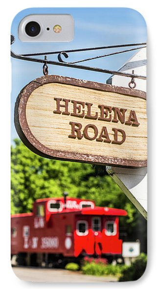 IPhone Case featuring the photograph Helena Road Sign by Parker Cunningham