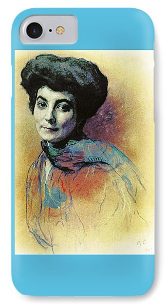 IPhone Case featuring the painting Helena Roerich by Pg Reproductions