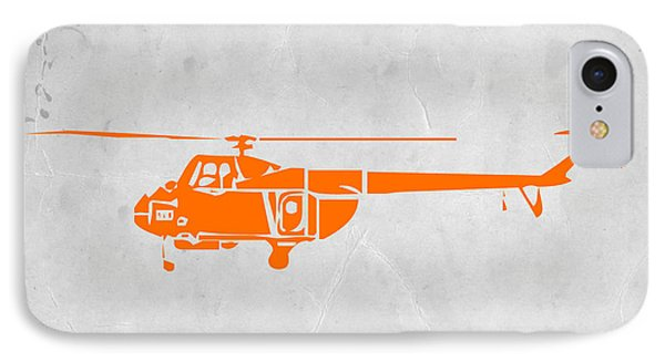Helicopter iPhone 7 Case - Helicopter by Naxart Studio