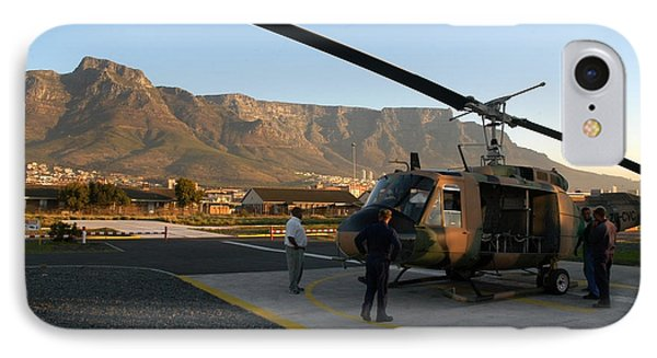 Helicopter Tours Of Cape Town And Table Mountain Phone Case by Andy Smy