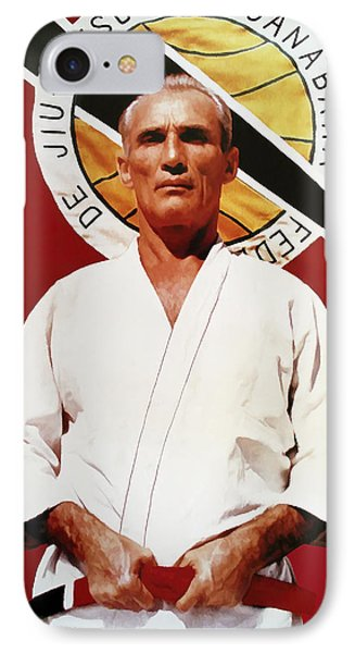 Helio Gracie - Famed Brazilian Jiu-jitsu Grandmaster IPhone Case by Daniel Hagerman