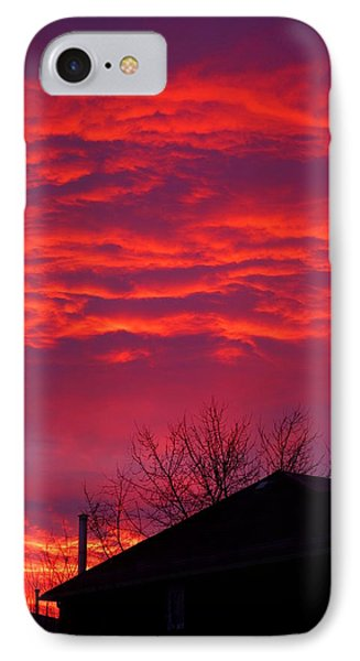IPhone Case featuring the photograph Hell Over Ontario by Valentino Visentini