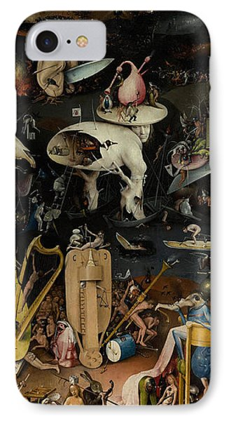 Punishment iPhone 7 Case - Hell    The Garden Of Earthly Delights by Hieronymus Bosch