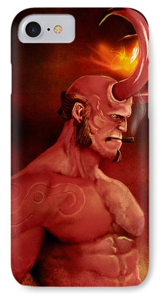Hellboy Phone Case by Jason Longstreet