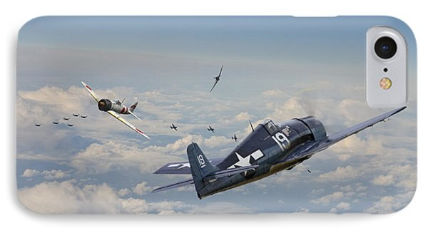 Hellcat F6f - Duel In The Sun IPhone Case by Pat Speirs