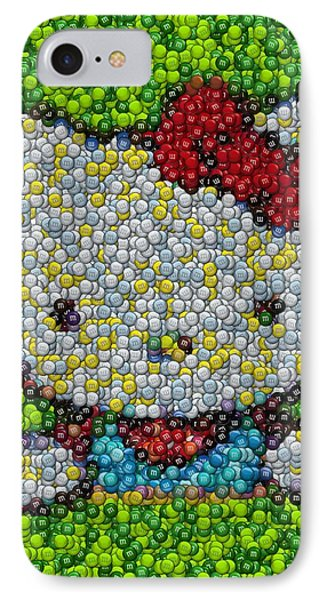 Hello Kitty Mm Candy Mosaic Phone Case by Paul Van Scott