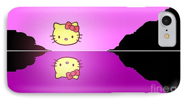 Hello Kitty Sunrise IPhone Case by George Pedro