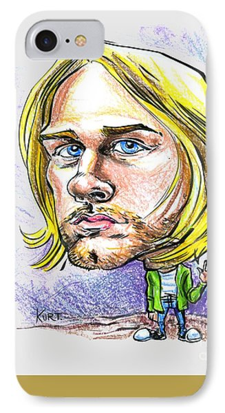 IPhone Case featuring the drawing Hello Kurt by John Ashton Golden