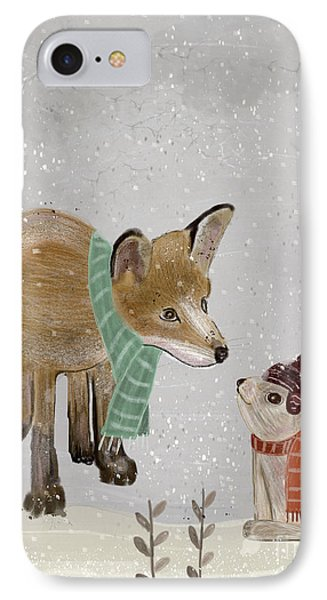 IPhone Case featuring the painting Hello Mr Fox by Bri B