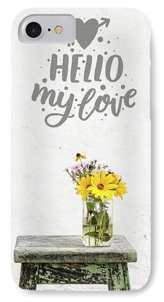 IPhone Case featuring the photograph Hello My Love Card by Edward Fielding
