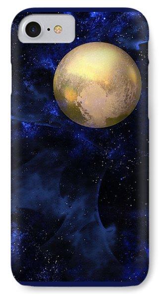 IPhone Case featuring the digital art Hello Pluto by Klara Acel