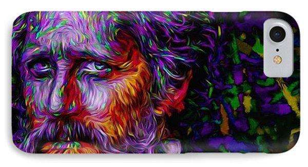 #hellonwheels #hellonwheelsamc #paint IPhone Case by David Haskett