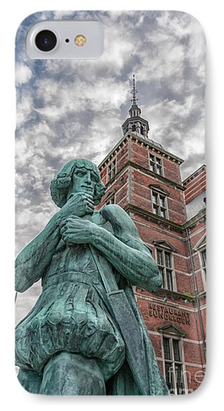 IPhone Case featuring the photograph Helsingor Train Station Statue by Antony McAulay