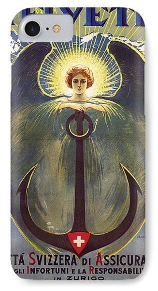 Helvetia Poster IPhone Case by Umberto Boccioni