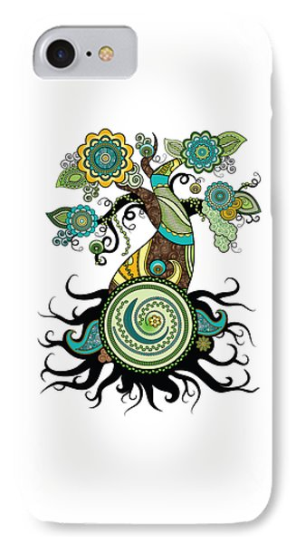 Henna Tree Of Life IPhone Case by Serena King