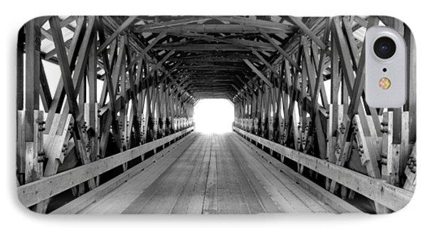 Henniker Covered Bridge IPhone Case by Greg Fortier