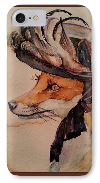 IPhone Case featuring the painting Henrietta Fox by Christy  Freeman