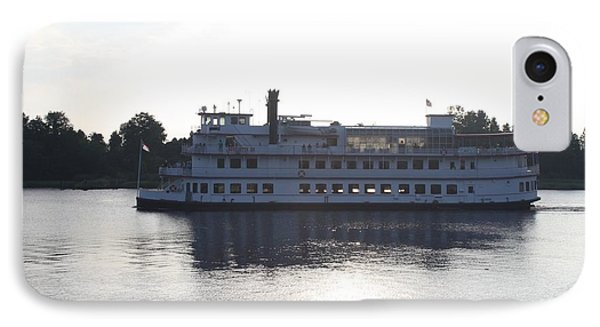 Henrietta IIi Riverboat Floating Down Cape Fear Nc IPhone Case by John Telfer