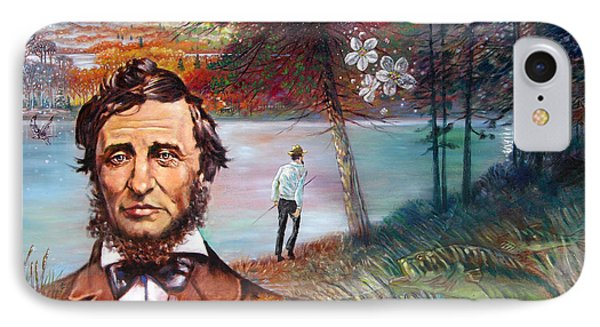 Henry David Thoreau IPhone Case by John Lautermilch