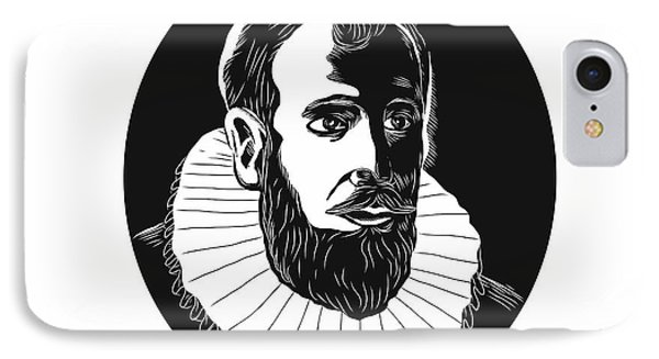 Henry Hudson Explorer Woodcut IPhone Case