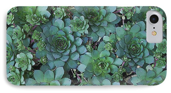 Hens And Chicks - Digital Art  IPhone Case
