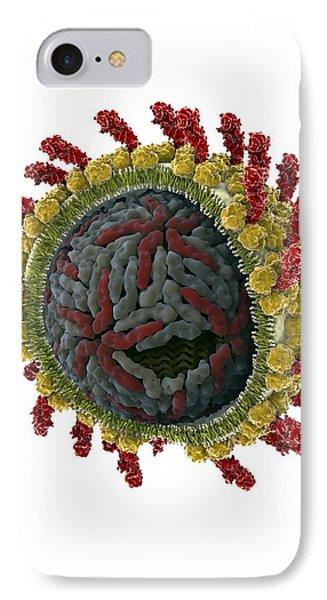 Hepatitis C Virus, Molecular Model Phone Case by Ramon Andrade 3dciencia