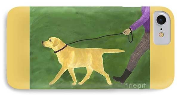 Her Dog Took Her Everywhere IPhone Case